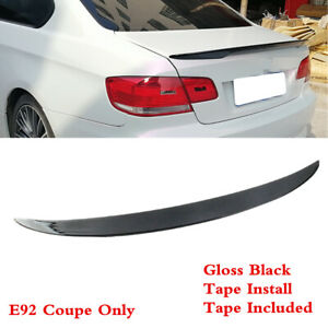 Fit For Bmw 3 Series E92 Coupe 2007 2013 Trunk Lip Spoiler Wing Painted Black