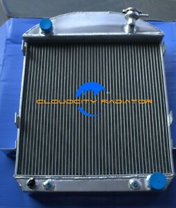 Aluminum Radiator For 1924 1927 Ford Model T Bucket Chevy Engine 3row 25 26
