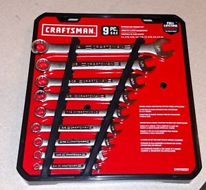 Craftsman 9 Pc Sae Standard Combination Wrench Set Brand New 82327