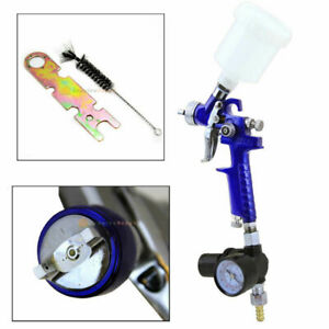 Mini Hvlp Gravity Feed Spray Paint Gun W Gauge Regulator 1 0mm Nozzle Auto Body