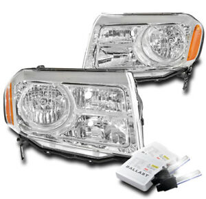 For 2012 2013 2014 2015 Honda Pilot Suv Chrome Replacement Headlight 8k Hid Set
