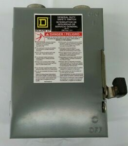 Square d Du322 Safety Switch 60a 220 240v 1 3phase