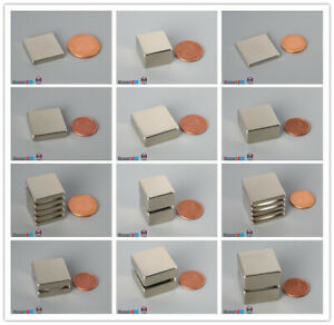 N52 19mm 25mm 3 4 1 Rare Earth Neodymium Super Strong Square Block Magnets
