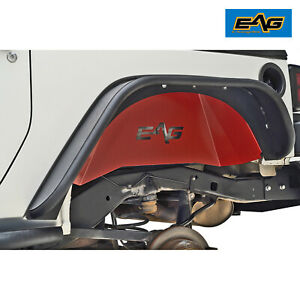 Eag Inner Fender Kit Front rear Sheet Metal Red Fit 07 18 Jeep Wrangler Jk
