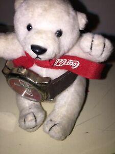 Rare Vintage 2002 Coca-Cola Polar Bear & Coca Cola Watch!  #17313-1