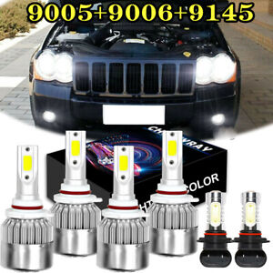 9005 9006 Led Headlight 9145 H10 Fog Bulbs For Jeep Grand Cherokee 2005 2010