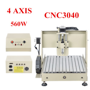 4 Axis 3040 Cnc Router Engraver Engraving Machine Woodworking Pcb Caver 3d Cutte