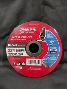 Diablo 5 Inch Metal Cut Off Disc Angle Grinder Tool 10 Pack Dbd050040110f