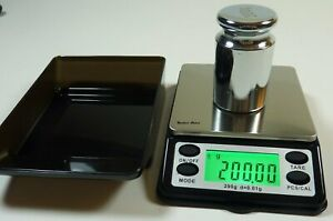 Small Pocket Digital Scale 200g X 0 01g With Calibration Weight Tray Oz Ct Gn