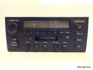 95 97 Lexus Ls400 Cassette Radio Stereo Head Unit 86120 50362