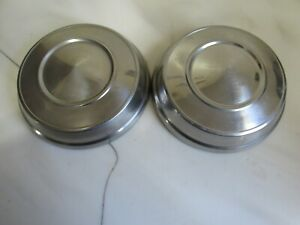 Vintage Pair Of 1963 1964 Plymouth Savoy Dodge 330 Dog Dish Hubcaps