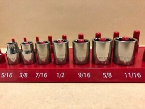 Made In Usa Craftsman 12 Point Shallow Socket Set 3 8 Drive 7 Pc Sae G Series