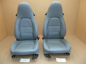 02 Boxster S Rwd Porsche 986 L R Front Seats Gray 2 Way Power Stock Oem 63 923