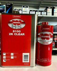 Wanda 8100 Polyurethane Clearcoat 1 Gallon With 1l Hardener
