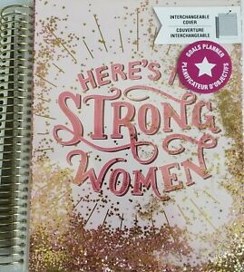 Recollections Strong Women Feminism Goals Undated Planner 18 Months Pink Glitter