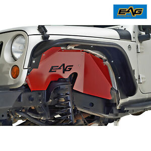 Eag Fit 07 18 Jeep Wrangler Jk Sheet Metal Red Front rear Inner Fender Kit