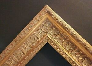 14 X 18 Standard Picture Frame 2 3 4 Wide Gold Leaf Ornate Scoop Canvas Allow