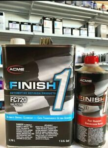 Acme Fc720 1 Ultimate Overall Clearcoat Gallon Finish 1 Fast Hardener