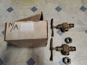Set Of 2 Ernst Brass Bronze Valve Fig 5 35 3 4 Water Gauge 300wsp