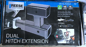 Reese Towpower 70601 Dual Trailer Hitch Extension W Vertical Dual 2 Hitch
