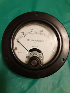 D c Amperes Gauge Weston Model 301 Used Untested Stock c179