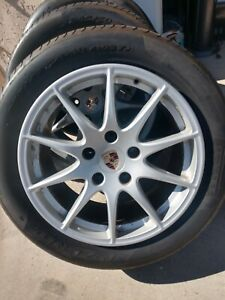 18 Porsche Panamera Factory Oem Staggered Wheels With Tires Included