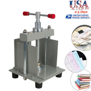 Useful A4 Manual Flat Paper Press Machine Invoices check booklet nipping Machine