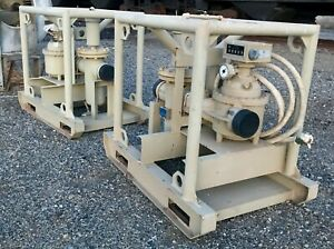 Smith Meters 6 Inch Fuel Flow Meter Sf 6v nf With Weamco Tee Strainer On Frame