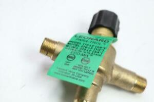 Leonard Mixing Valve Brass Mnpt 1 2 Male Inlet outlet 0 25 8 5gpm 270 lf