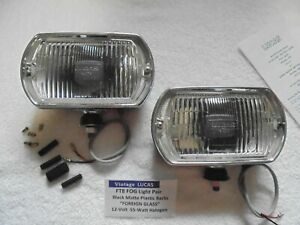 Vintage Lucas Rectangle Ft8 Fog Light Pair