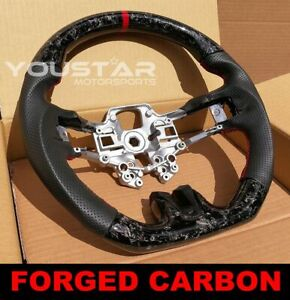 Forged Carbon Red Edition Steering Wheel Shelby Design For Ford Mustang 18 20