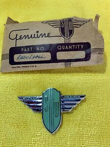 Very Rare Nos Stewart Warner Radio Dash Emblem Perfect For A Hot Rod Scta Trog