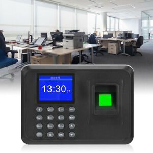 Employee Attendance Punch Time Clock Recorder Lcd Display Time Recorder System