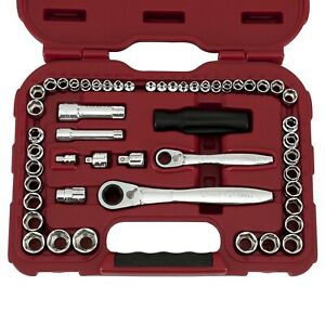 Craftsman 51 Pc Max Axess Mechanics Tool Set Chrome plated Alloy Steel Mechanic