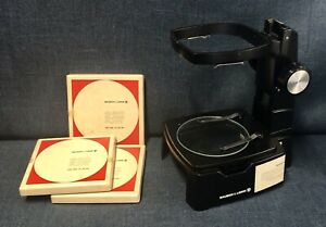 New Nos Bausch Lomb Stereozoom Base 31 26 84 With E Arm And 3 Glass Plates