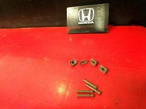 94 97 Honda Accord All Manual Door Lock Pin Push Pull Knob Cover Trim X8 Oem