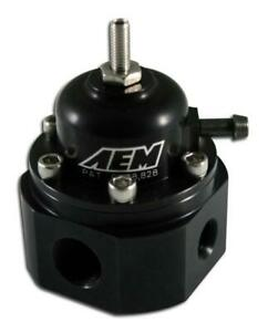 Aem 25 302bk Universal Black Adjustable Fuel Pressure Regulator