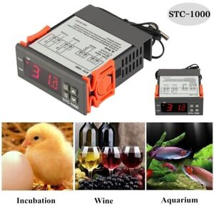 Temperature Thermostat Stc 1000 Controller Auto Heating Cooling Aquarium Brew