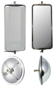 Stainless Steel West Coast Mirrors And 8 5 Bubble Convex Truck Mirrors