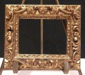 3 X 3 3 4 Italian Made Ornate Gold Leafed Standard Picture Frame 1 Wide