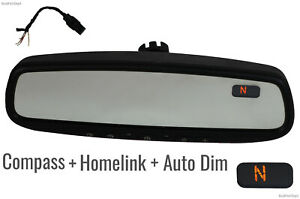 Auto Dimming Interior Rear View Mirror Homelink Garage Opener Compass Gntx 453