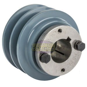 Cast Iron 3 5 2 Groove Dual Belt B Section 5l Pulley 1 3 16 Sheave Bushing