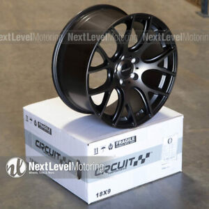 Circuit Cp31 18x8 18x9 5 114 3 Tinted Black Wheels Staggered Fits Civic Accord