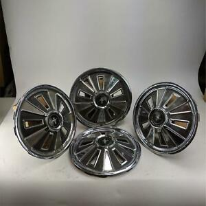 Vintage Ford Mustang 1965 Hubcaps Classic 14 Wheel Cover Hub Caps Set Of 4