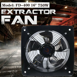 750w 16 Inch Industrial Ventilation Extractor Axial Exhaust Air Blower Fan