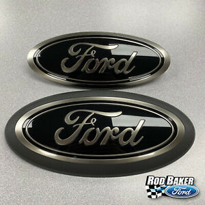 18 Thru 20 Ford F 150 Smoke Chrome Oval Grille Tailgate Badges W o Front Cam