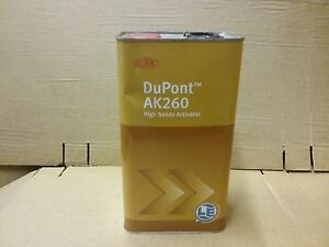Dupont 2k Activator Ak260 5 Litre Hardener Catalyst For Hs Paints