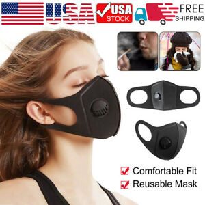 Fashion Washable reusable Mask Face Protection Breathing Valve Masks Outdoor