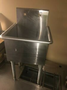 Advance Tabco One Compartment Stainless Steel Commercial Sink 18