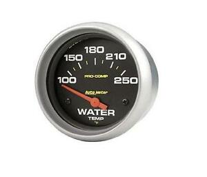 Auto Meter Pro comp Electric Water Temperature Temp 100 250 Deg F Gauge 2 5 8